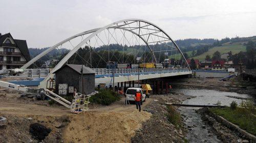 próbne obciążenie mostu / L.17-005 węzeł Poronin Banimex