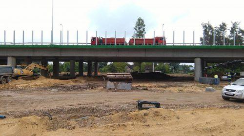 próbne obciążenie mostu / L.17-021 S8 Ostrów Maz. Porr