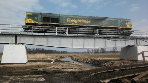 próbne obciążenie mostu / L.18-009 LK-31 LK-36 Intop W-wa