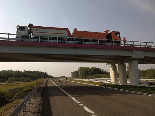 próbne obciążenie mostu / L.18-016 S7 Radom Dragados IBDiM