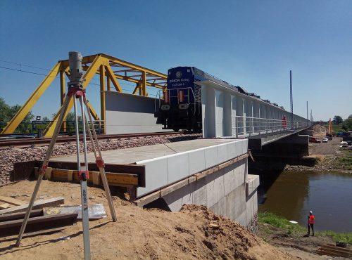 próbne obciążenie mostu / L.18-019 LK-7 Budimex (LOT B + Wieprz)