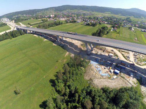 próbne obciążenie mostu / L.18-036 S7 Zakopianka obiekt 21 Porr