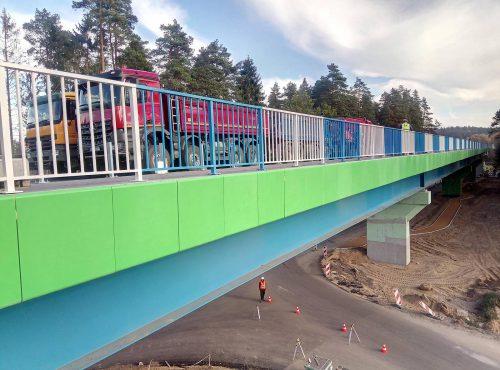 próbne obciążenie mostu / L.18-039 dw676 estakada Krasne Budrex-Kobi