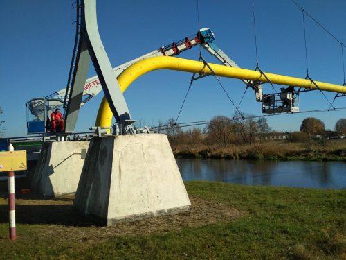 ekspertyza mostu / L.18-058 Kośmin Gazociąg