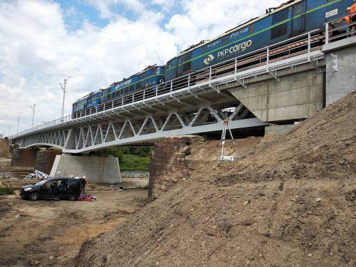 próbne obciążenie mostu / L.19-010 E59 Rokietnica - Wronki Budimex
