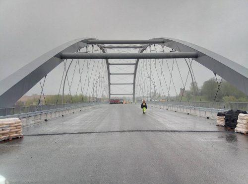 próbne obciążenie mostu / L.19-018 Most Heleński Nowy Sącz Banimex