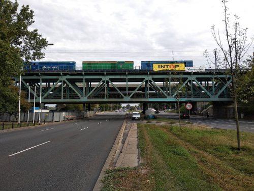próbne obciążenie mostu / L.19-040 Most Gdański Intop W-wa