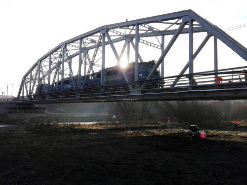 próbne obciążenie mostu / L.19-043 lk99 Lasek, Nowy Targ PTM