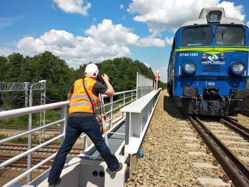 próbne obciążenie mostu / L.19-061 E75 ilk34 Małkinia Intercor