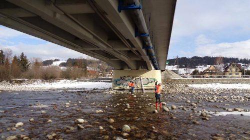 badanie mostu / L.20-003 dk47 projekt wymiany łożysk potok Białka, Czarna Góra GDDKiA