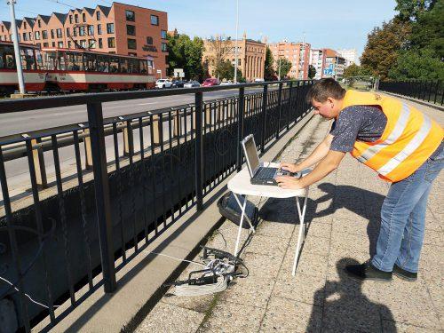 badanie mostu / L.20-058 Pomiary drgań Gdańsk PBW