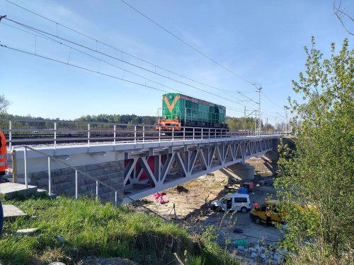 próbne obciążenie mostu / L.20004 lk14 most nadrz. Ner (tor 1) Sarinż