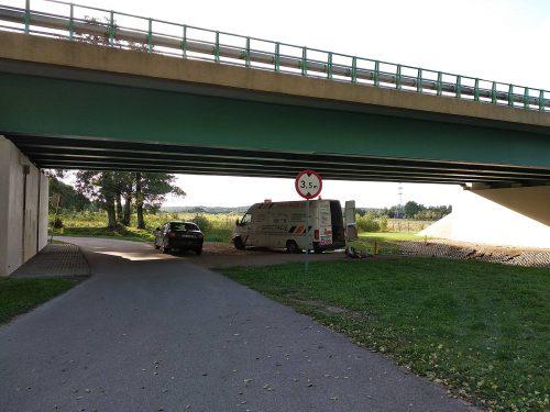 ekspertyza mostu / L.20064-065 przejazdy ponadnormatywne Szczecin Transannaberg