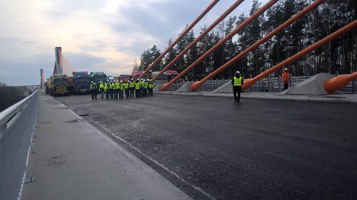 próbne obciążenie mostu / MS-3 Ostróda
