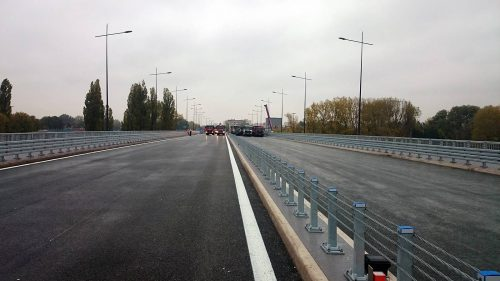 próbne obciążenie mostu / Próbne obciążenia Mostu Łazienkowskiego wWarszawie