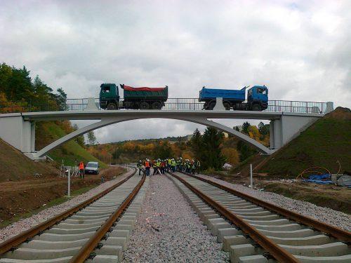 próbne obciążenie mostu / Próbne obciążenia dla budowy Pomorskiej Kolei Metropolitalnej