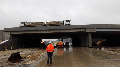 próbne obciążenie mostu / Próbne obciążenia mostów dla budowy obwodnicy Ostrowa Wielkopolskiego