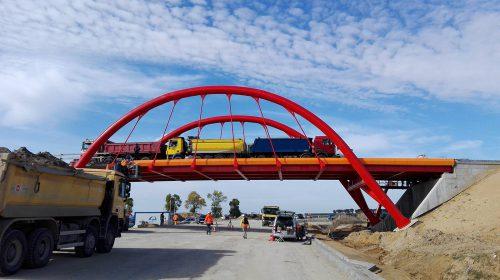 próbne obciążenie mostu / Próbne obciążenia obiektów dla budowy obwodnicy Wielunia