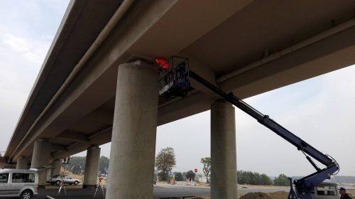 ekspertyza mostu / Próbne obciążenia obiektów dla budowy trasy S5 koło Gniezna
