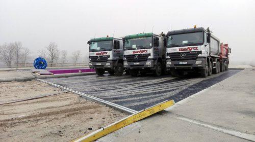 próbne obciążenie mostu / Próbne obciążenia obiektów dla budowy trasy S5 koło Żmigrodu