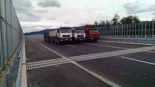 próbne obciążenie mostu / Próbne obciążenia obiektów dla budowy trasy S69 Bielsko-Biała - Żywiec
