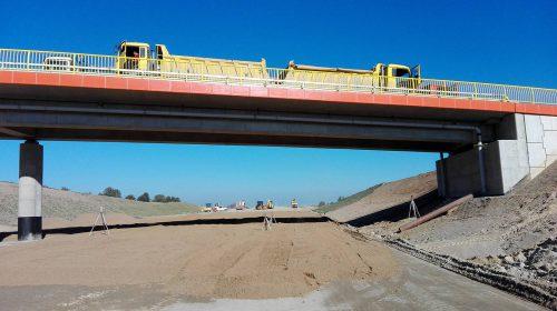 próbne obciążenie mostu / Próbne obciążenia obiektów dla budowy trasy S7 Ostróda Pd - Olsztynek