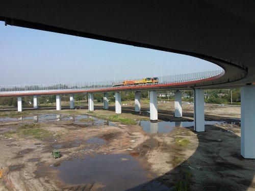 próbne obciążenie mostu / Próbne obciążenia obiektów mostowych dla budowy Drogowej Trasy Średnicowej naodcinku Zabrze - Gliwice