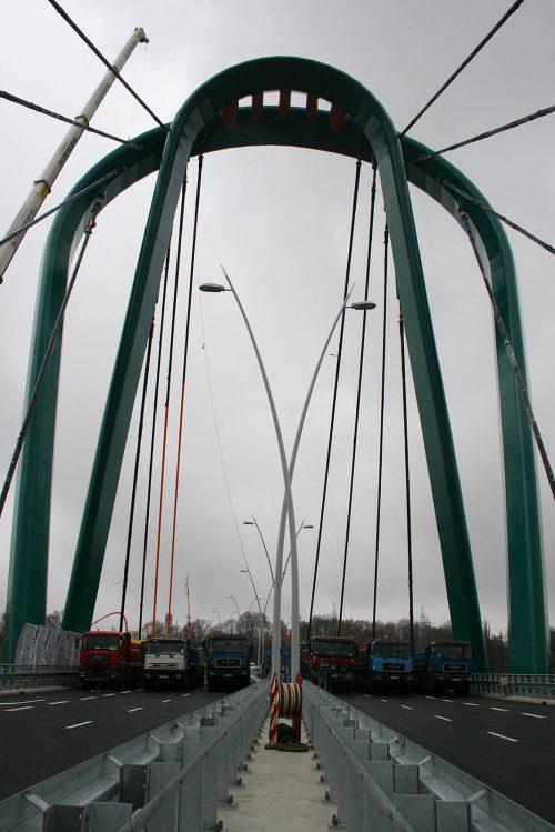 próbne obciążenie mostu / Próbne obciążenia obiektów mostowych dla budowy Trasy Uniwersyteckiej wBydgoszczy
