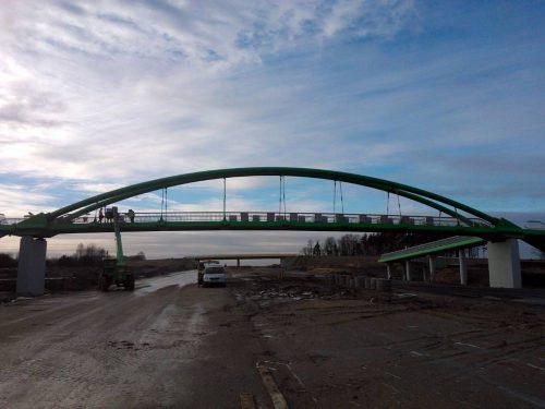 próbne obciążenie mostu / Próbne obciążenia obiektów mostowych dla budowy trasy ekspresowej S8 Wrocław - Łódź