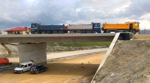 próbne obciążenie mostu / W.18-001 S7 Skomielna Biała - Chabówka Salini
